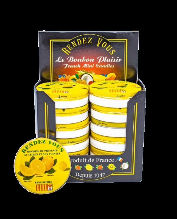 Coffret Rendez Vous Sans Sucre Citron et Plantes de Provence x12