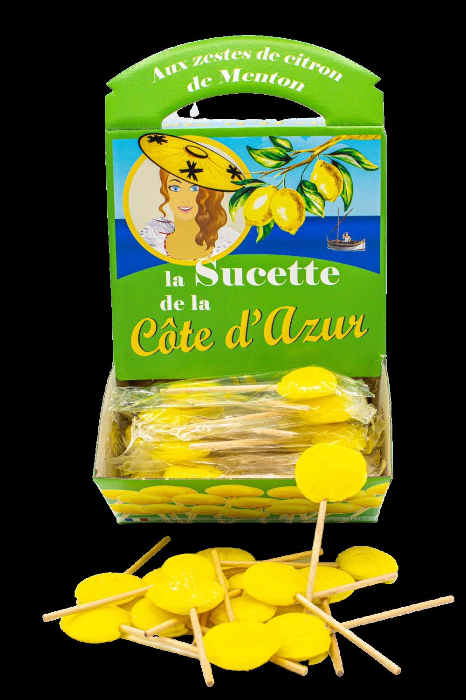 Sucettes Côte d'Azur Citron (x120)