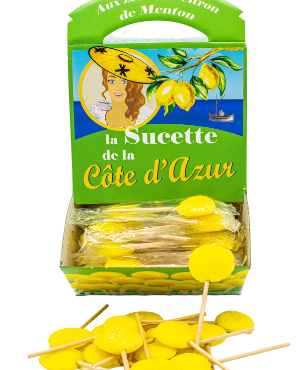 Lemon Côte d'Azur Lollipops (x120)